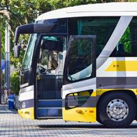 黄色い高速バス