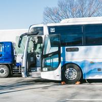 青い高速バス